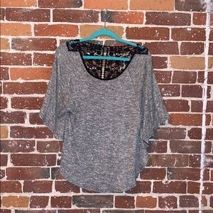 BCX sweater poncho